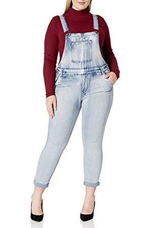 COVER GIRL Damen Denim Overalls Bib Strap Button Skinny Fit Jeans