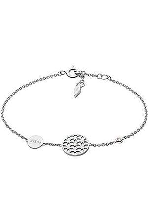 Fossil Damen Armbänder - Damen-Kettenarmband 925 Sterlingsilber Perlmutt JFS00463040