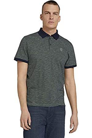TOM TAILOR Herren 1025987 Stripe Poloshirt, 27129-Blue Mint Yarn Dye