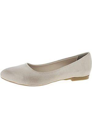 Andrea Conti Damen Ballerinas - Damen 1935702 Geschlossene Ballerinas, (Silbergrau 111)