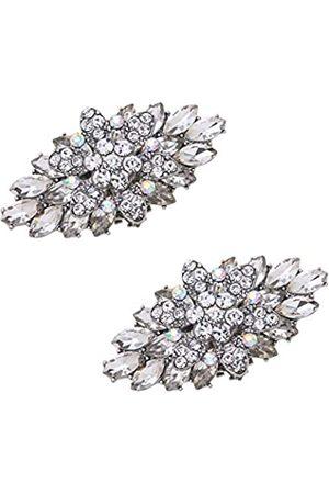 MLAVXCC Damen Sandalen - 2 Stück Doppellagige Strass-Schuh-Clips, für Hochzeit, Party, Schuhe