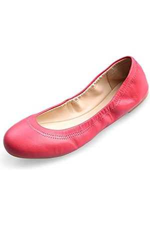 Xielong Damen Halbschuhe - Damen Chaste Ballett Flach Lammfell Loafers Casual Damenschuhe Leder