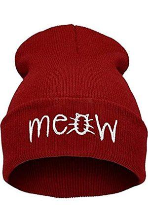 Beurio Damen Hüte - Slouchy Beanie Winter Knit Skull Mütze für Damen Herren mit Meow - - Einheitsgröße