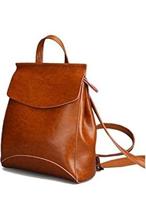 JeHouze Damen Rucksäcke - Fashion Women Anti-Theft Shoulder Handbag Genuine Leather Backpack Casual Bag (Brown)