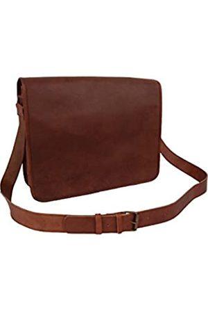 Leather Castle Damen Herren Vintage Leder Messenger Bag 15