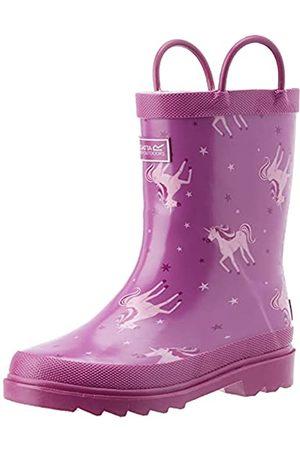Regatta Jungen Gummistiefel - Minnow Jnr Welly Rain Boot, Unicorn/ROrc