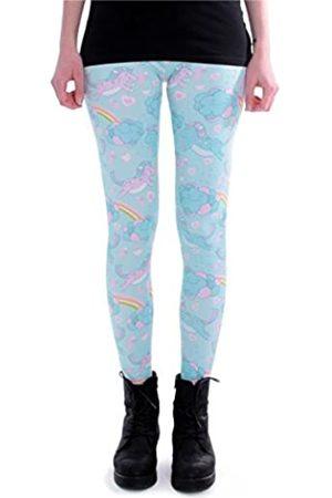 cosey Damen Leggings & Treggings - Damen Bedruckte Bunte Leggins (Einheitsgröße) Leggings