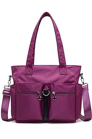 Fabuxry Frauen Casual Totes Handtaschen Schultertaschen Geldbörsen Weiche Nylon Tasche