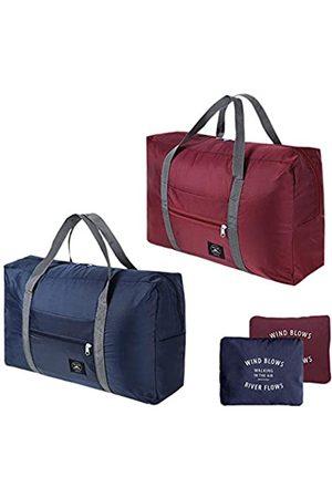 CHULAI Faltbare leichte Duffle Tasche, wasserdichte Reiseaufbewahrung, Gepäck, tragbare Tragetasche für Fitnessstudio, Sport, Urlaub, Picknick