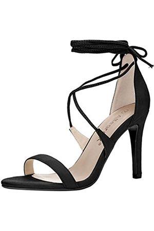 Allegra K Damen Sandalen - Damen offene Zehe Stöckelabsatz hohe Hacke Schnuerschuh Sandalen Sandalette 40