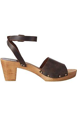 Sanita Damen Sandalen - Damen Yara Square Flex Sandal Knöchelriemchen, (Antique Brown 78)