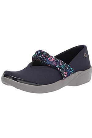 Bzees Damen Playful Sneaker, Marineblau, Blumenmuster