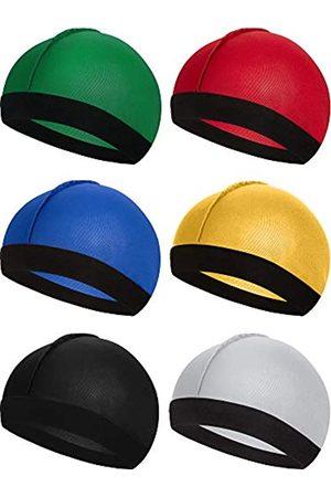Syhood 6 Stücke Gummiband Seidige Wellen Kappen für Herren Seidenmaterial für 360 540 und 720 Wellen (Farbe 3)