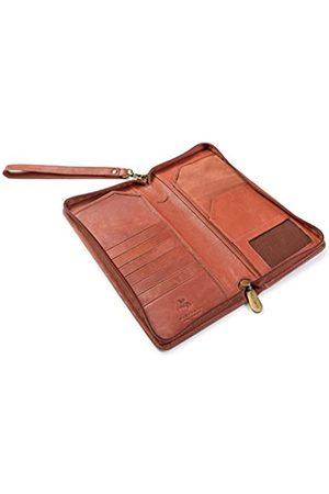 Visconti 1157 Reise-Brieftasche mit RFID-Schutz, groß, Leder, mit Reißverschluss, für Kreditkarten, Tickets