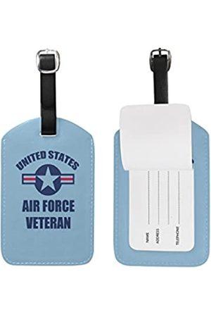 Abbylife Veteran Geschenk US Air Force Gepäckanhänger aus PU-Leder