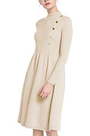 Apart Damen Freizeitkleider - APART Damen Kleid, wärmendes Strickkleid, Zierknöpfe, weiter Rockpart, mit Kaschmiranteil