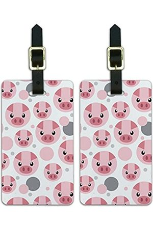 Graphics and More Koffer - Graphics & More Luggage Suitcase Carry-on Id Tags Pig Face Farm Animal