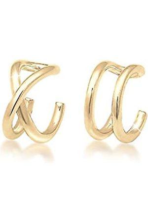 Elli Damen Ohrringe - Ohrringe Damen Earcuff Klemme Set Geo Basic Minimal in 925 Sterling Silber