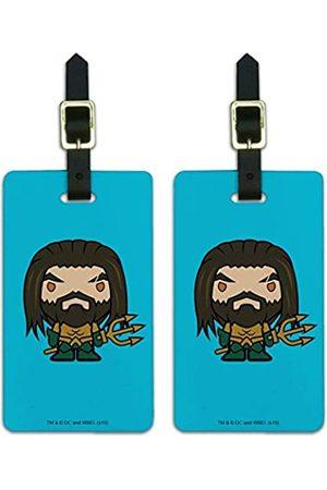 Graphics and More Damen Reisetaschen - Aquaman Koffer-Anhänger mit Chibi-Charakteren