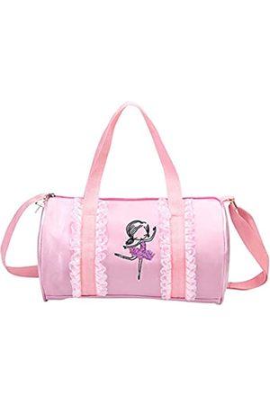 ORIDOOR Mädchen Umhängetaschen - Sporttasche für Mädchen, Schwarz und Pink, Nylon