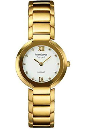 Soehnle Bruno Söhnle Damen Analog Quarz Uhr mit Edelstahl beschichtet Armband 17-33077-932