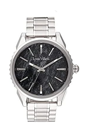 Louis Villiers Herren Uhren - LouisVilliersUnisexAnalogQuarzUhrmitEdelstahlArmbandLV2062
