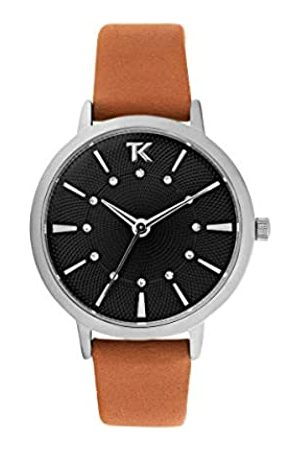 Trendy Kiss Damen Uhren - Damen Analog Quarz Uhr mit Leder Armband TC10138-02