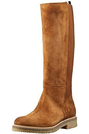 Tommy Hilfiger Damen Winterstiefel - Damen H1385AZEL 2B Stiefel, (Winter Cognac)
