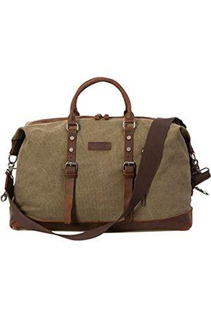 N/P Oriental Glory Weekender Bag für Herren, Handgepäcktasche, Segeltuch, echtes Leder