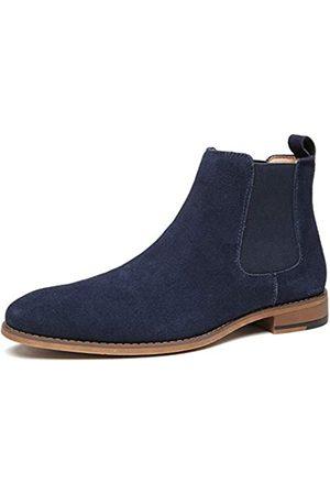 JORDI GIGO Herren Chelsea Boots - Chelsea Schlupfstiefel aus Wildleder für Herren – Echtes Leder Kleid Stiefel, Casual und Bequem Oxford Ankle Bootie