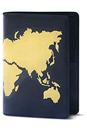 Lethnic Reisetaschen - Reisepasshülle aus Leder mit RFID-Blockierung (Weltkarte)