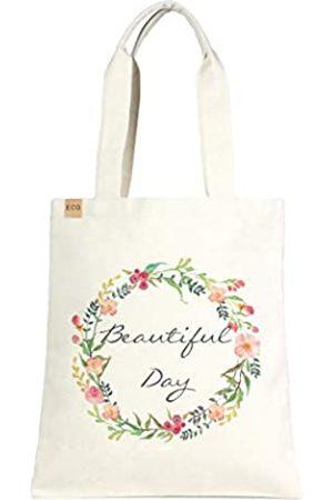 Me Plus Damen Handtaschen - Umweltfreundliche bedruckte Einkaufstasche/Schultertasche/Einkaufstasche/Schule und Büro.