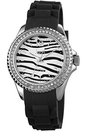 Just Watches Damen Uhren - Damen Analog Quarz Uhr mit Kautschuk Armband 48-S3860-BK