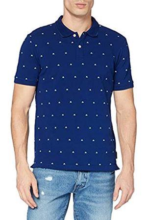 Scotch&Soda Herren Poloshirts - Mens Poloshirt mit Print aus Baumwolle Polo Shirt