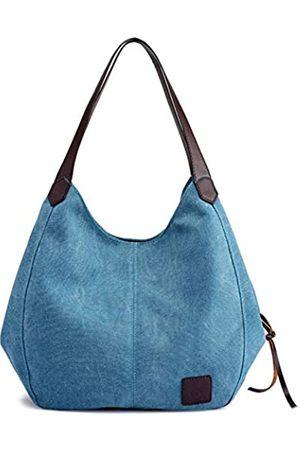 QIXINGHU Damen Handtaschen - Schultertasche Casual Handtasche Tote Bag Reisetasche Baumwolle Canvas Tasche geräumige Geldbörse langlebig leicht Damen Größe (LWH): 29
