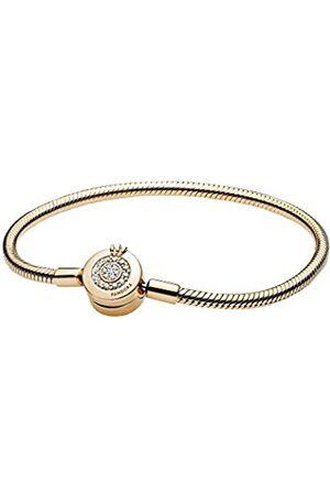 PANDORA Damen Armbänder - Funkelndes Crown O Schlangen-Gliederarmband in 18cm