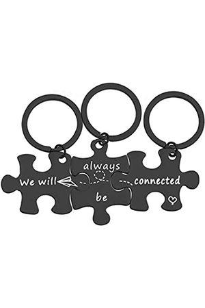 """MYOSPARK """"We Will Always Be Connected Puzzle""""-Schlüsselanhänger-Set"""