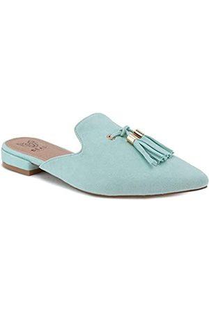 Beast Fashion Damen Halbschuhe - Gem-01 Wildleder-Pantoletten mit spitzem Zehenbereich, flache Loafer