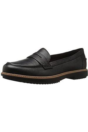 Clarks Damen Halbschuhe - Raisie Eletta Penny Loafer für Damen, (schwarzes Leder)