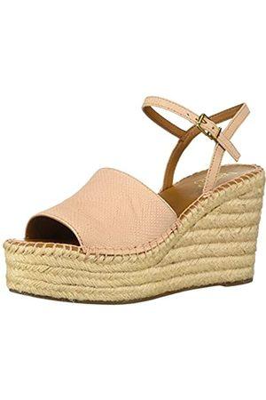 Franco Sarto Damen Tula Espadrille Keilabsatz Sandale, Pink (pfirsich)