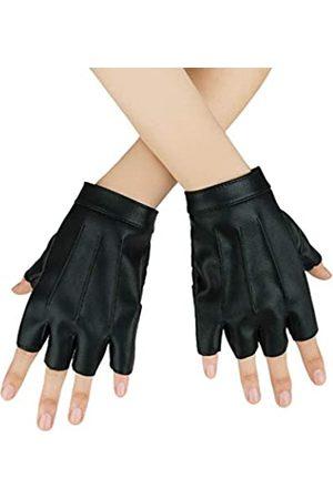 JISEN Damen Handschuhe - Damen-Handschuhe, Punk, Halbfinger