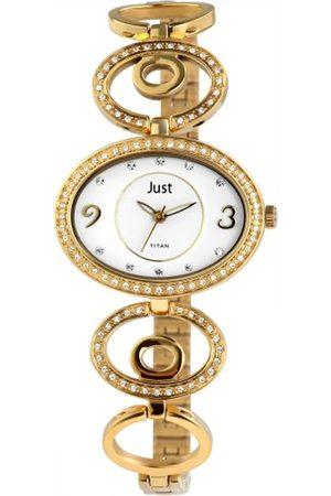 Just Watches Damen Analog Quarz Uhr mit Titan Armband 48-S61255-GD