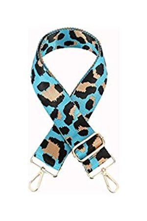 Sumily Damen Handtaschen - Schultertaschengurt Geldbörse Gurt Ersatz Crossbody Handtasche Streifen breit verstellbar, (Himmelblau (goldfarbenes Metall))