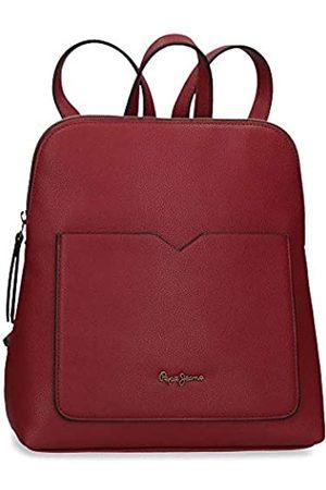 Pepe Jeans Damen Taschen - India Lässiger Rucksack Rot 21x29x10 cms Synthetisches Leder
