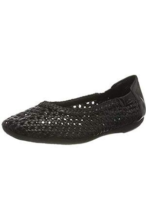 Marc Damen Ballerinas - Damen Shoes Schuhe Ballerina Janine Flechtballerina Leder (Scheep Nappa Black