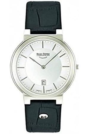 Soehnle Herren Uhren - Bruno Söhnle Herren Analog Quarz Uhr mit Leder Armband 17-13107-241