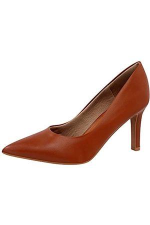 USAFLEX Damen Kleid Pumps, Stilvoll und Bequem 3.5 Zoll Heels für Frauen, Braun (hellbraun)