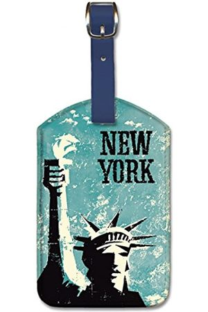 Pacifica Island Art Leatherette Luggage Baggage Tag - New York