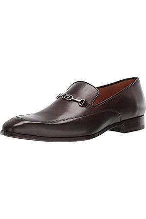 Mezlan Herren Sneakers - Falcon – Herren-Schlupfschuhe, leicht, mit mattem silberfarbenem Ornament, glattes europäisches Kalbsleder, handgefertigt in Spanien, mittlere Breite, Braun (Tabac)