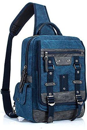 Leaper Herren Umhängetaschen - Vintage Messenger Bag Herren Sling Bag Outdoor Crossbody Bag Schultertasche - BP4937